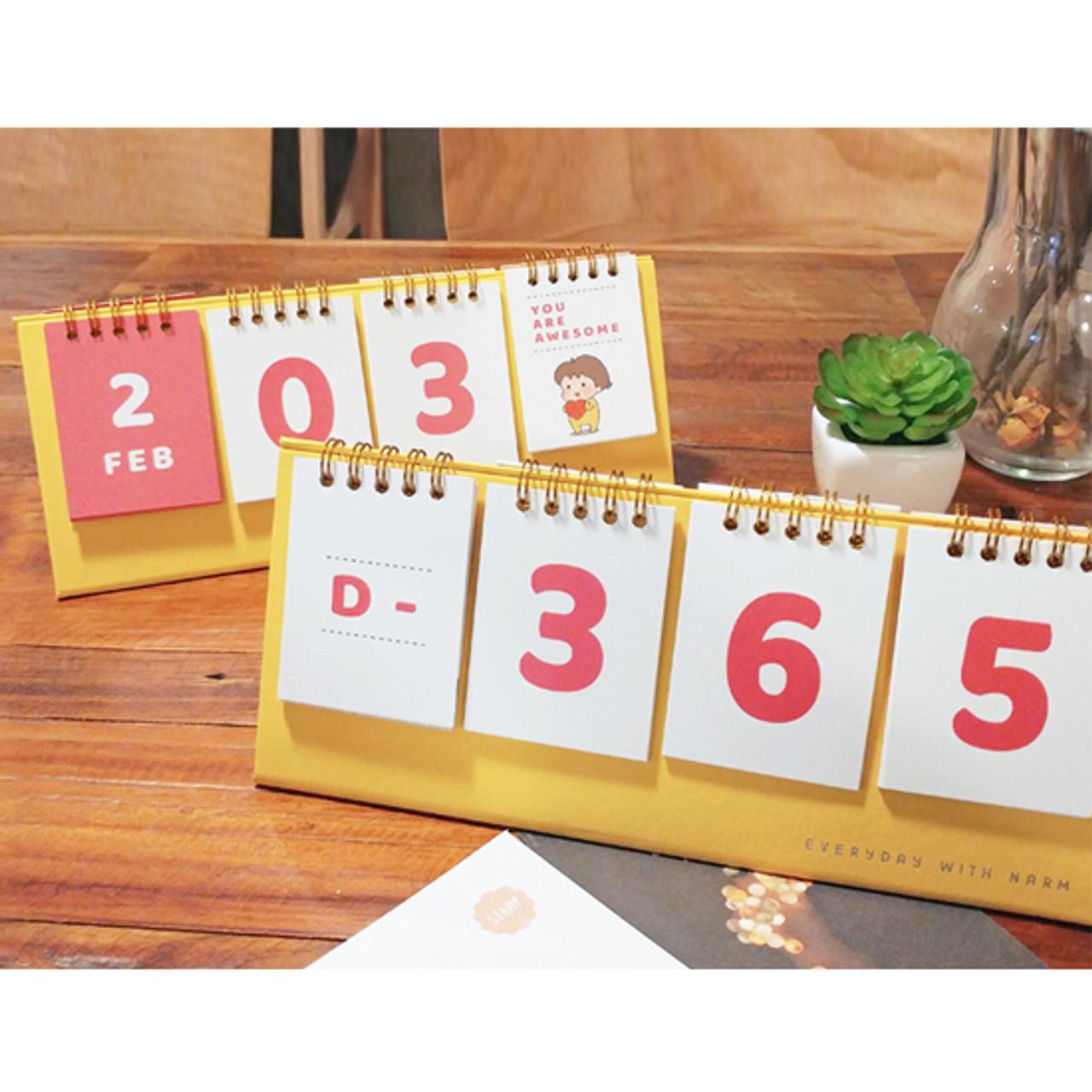 N Ivy Narm D Day Flip Perpetual Desk Calendar Fallindesign Com