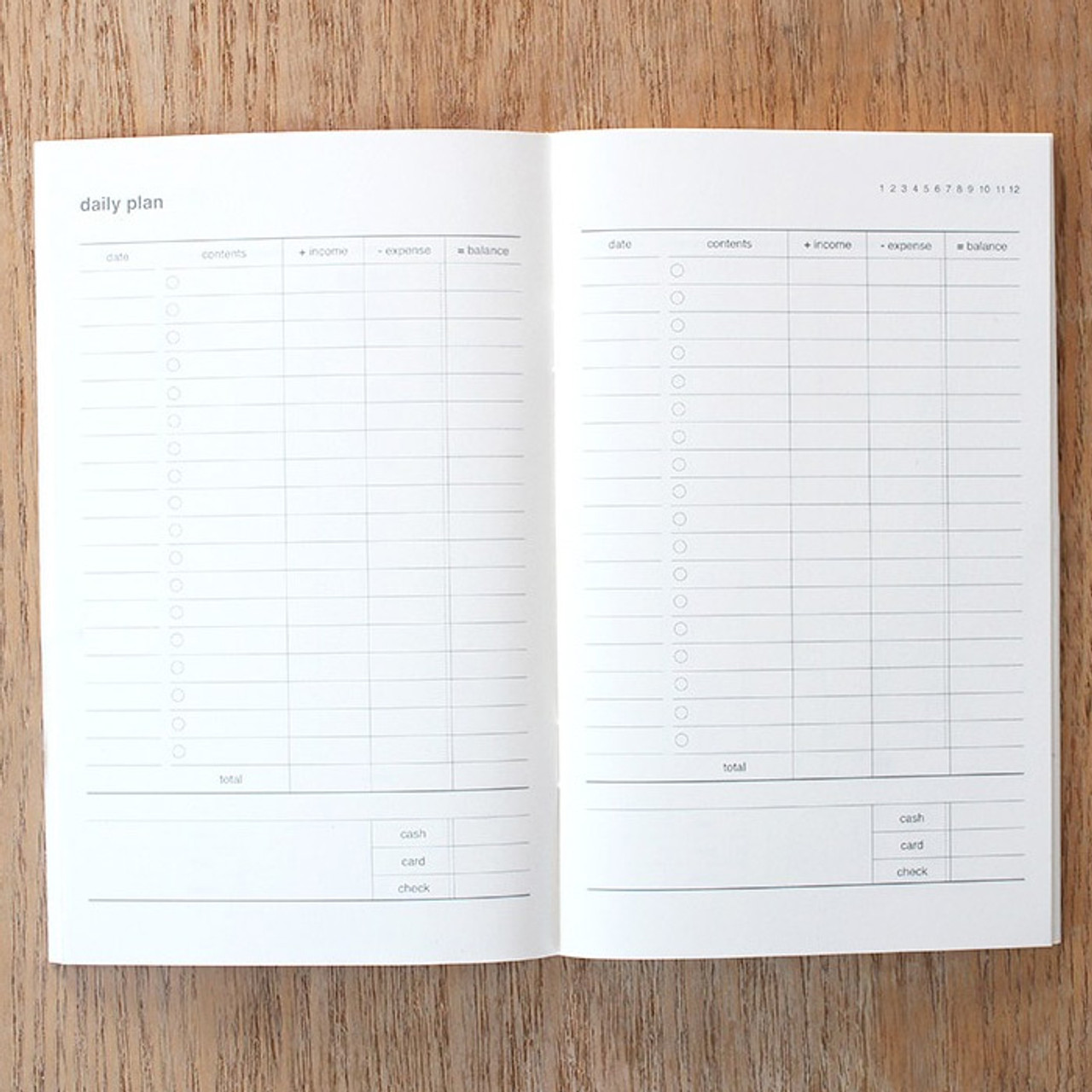 dash and dot poche cash cash book planner notebook fallindesign