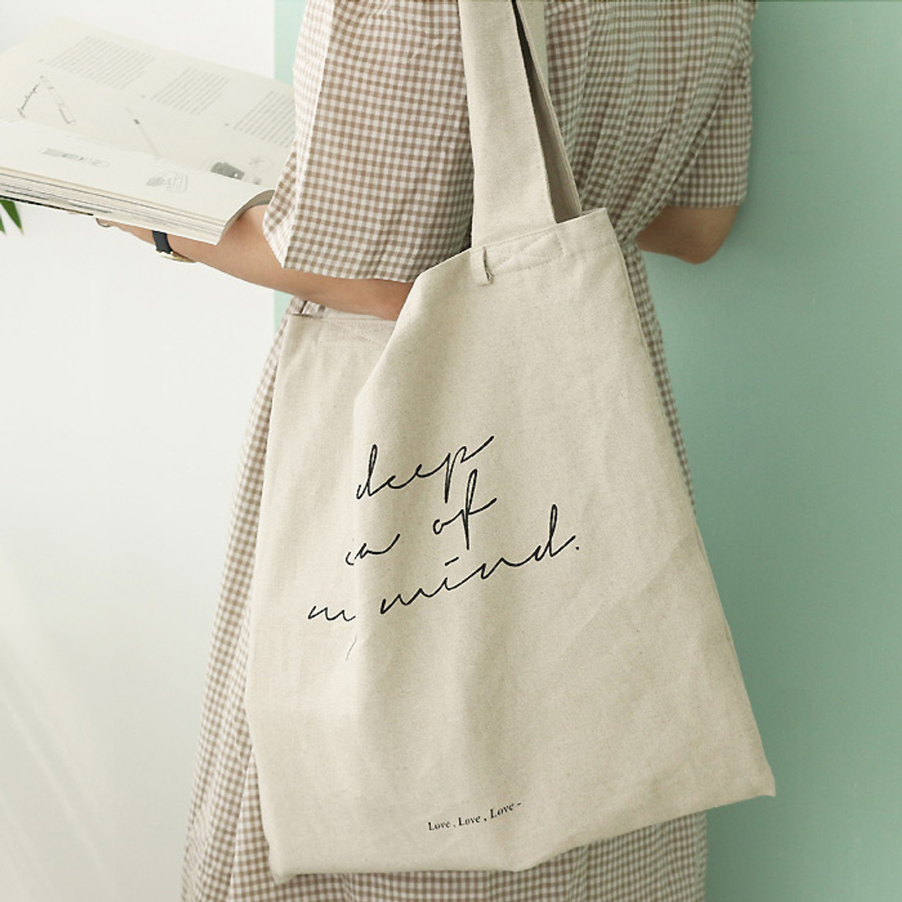 d38eee9a4 Wanna This Mind linen fabric daily shoulder bag - Fallindesign.com