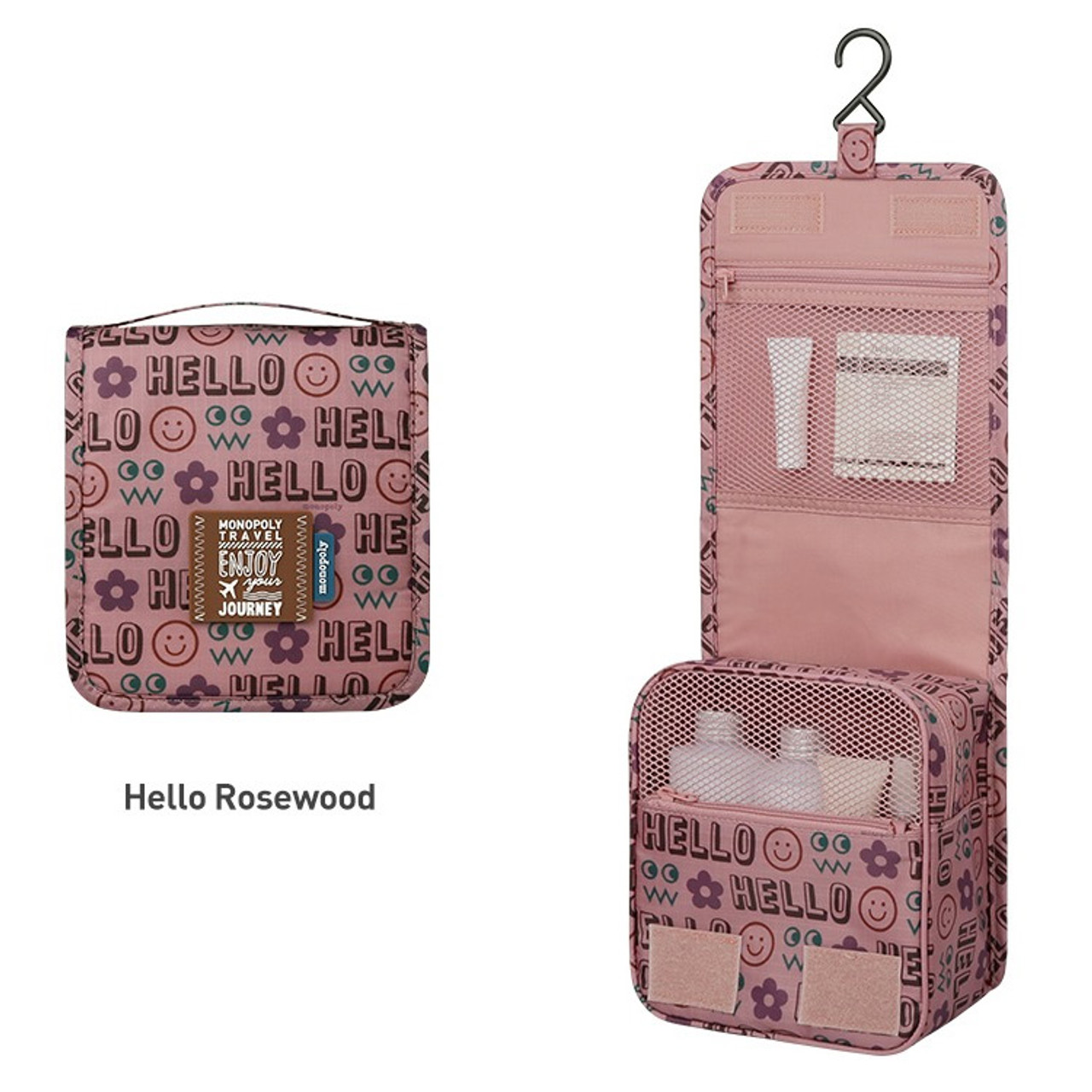 e103d38f9749 Hello rosewood - Monopoly Enjoy journey small travel hanging toiletry pouch  bag