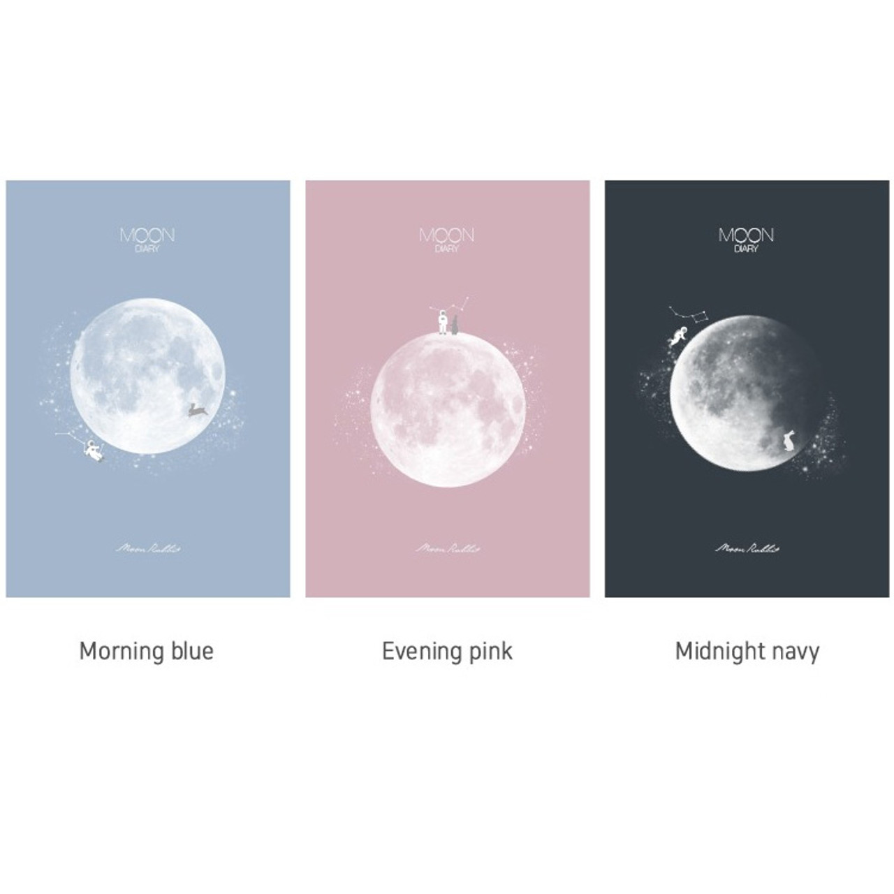 b3ab09527917 Dash and Dot Moon rabbit hardcover undated weekly diary planner