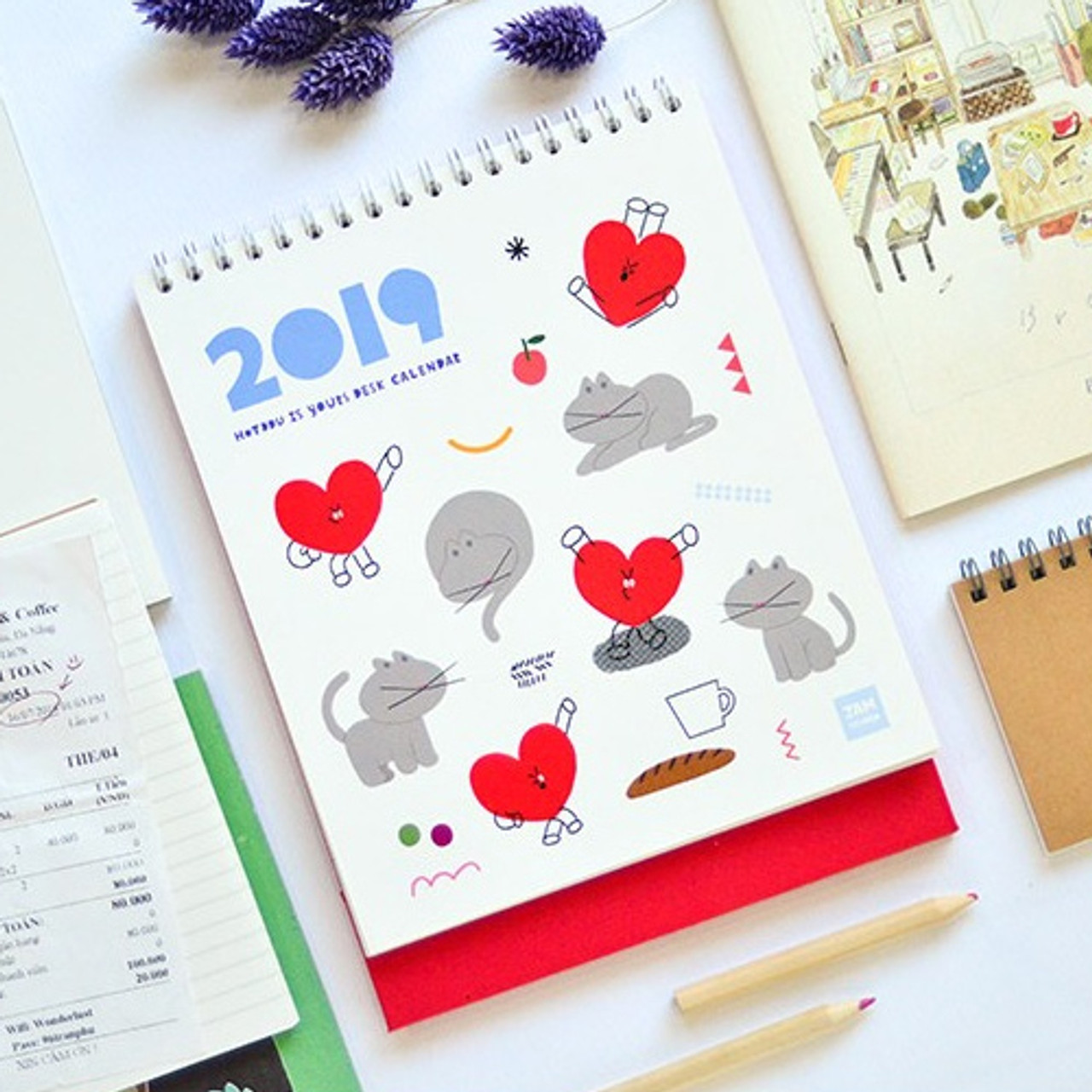 Cute Desk Calendar Computer Desk Case