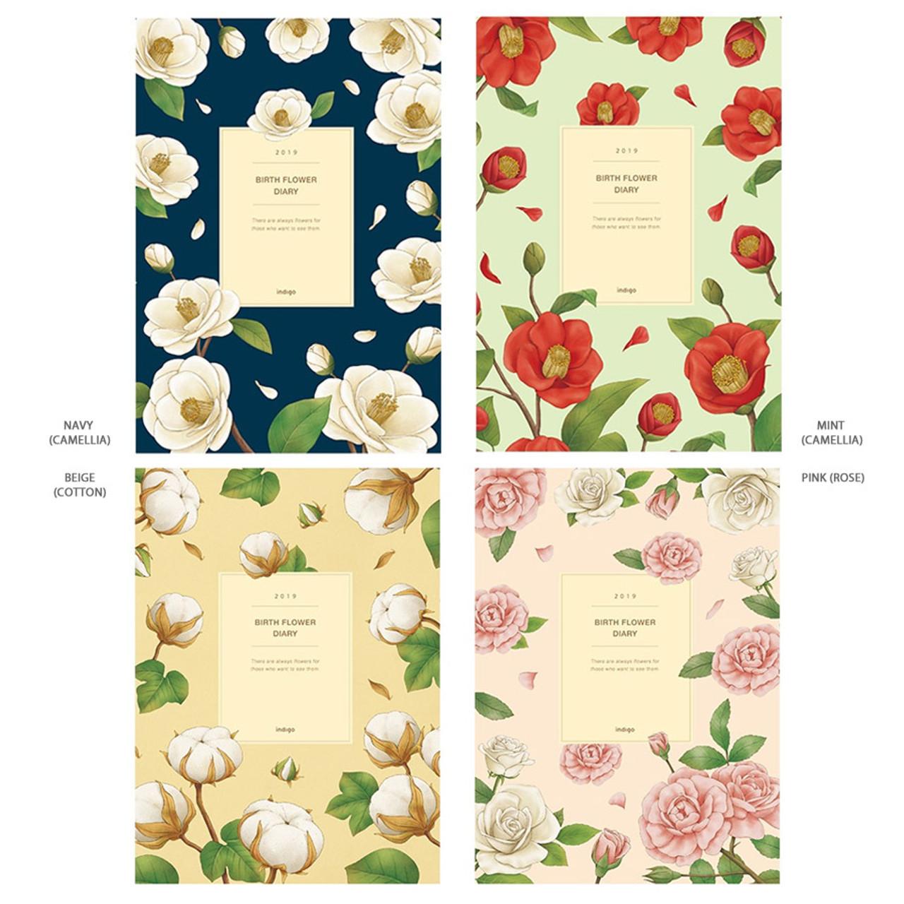 indigo 2019 birth flower hardcover dated weekly diary planner