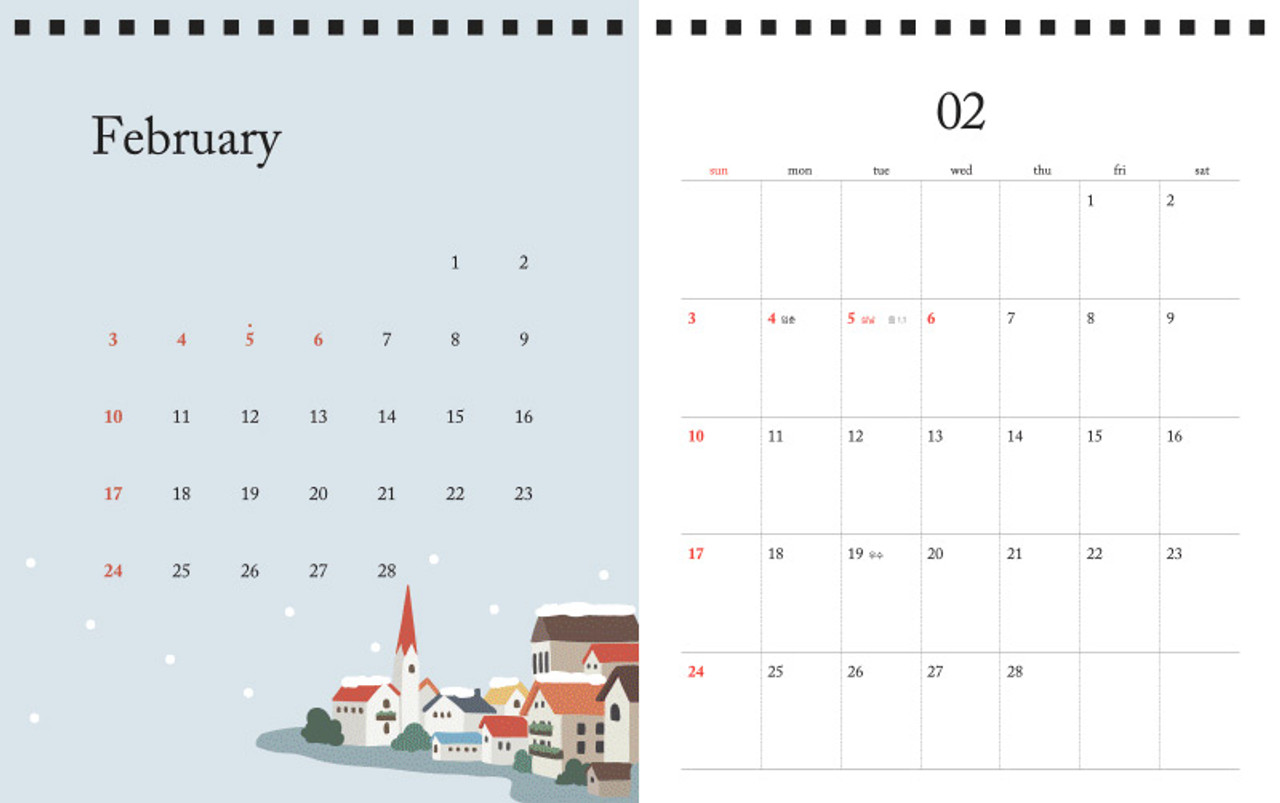 Dailylike 2019 Cute Illustration Stand Up Desk Calendar