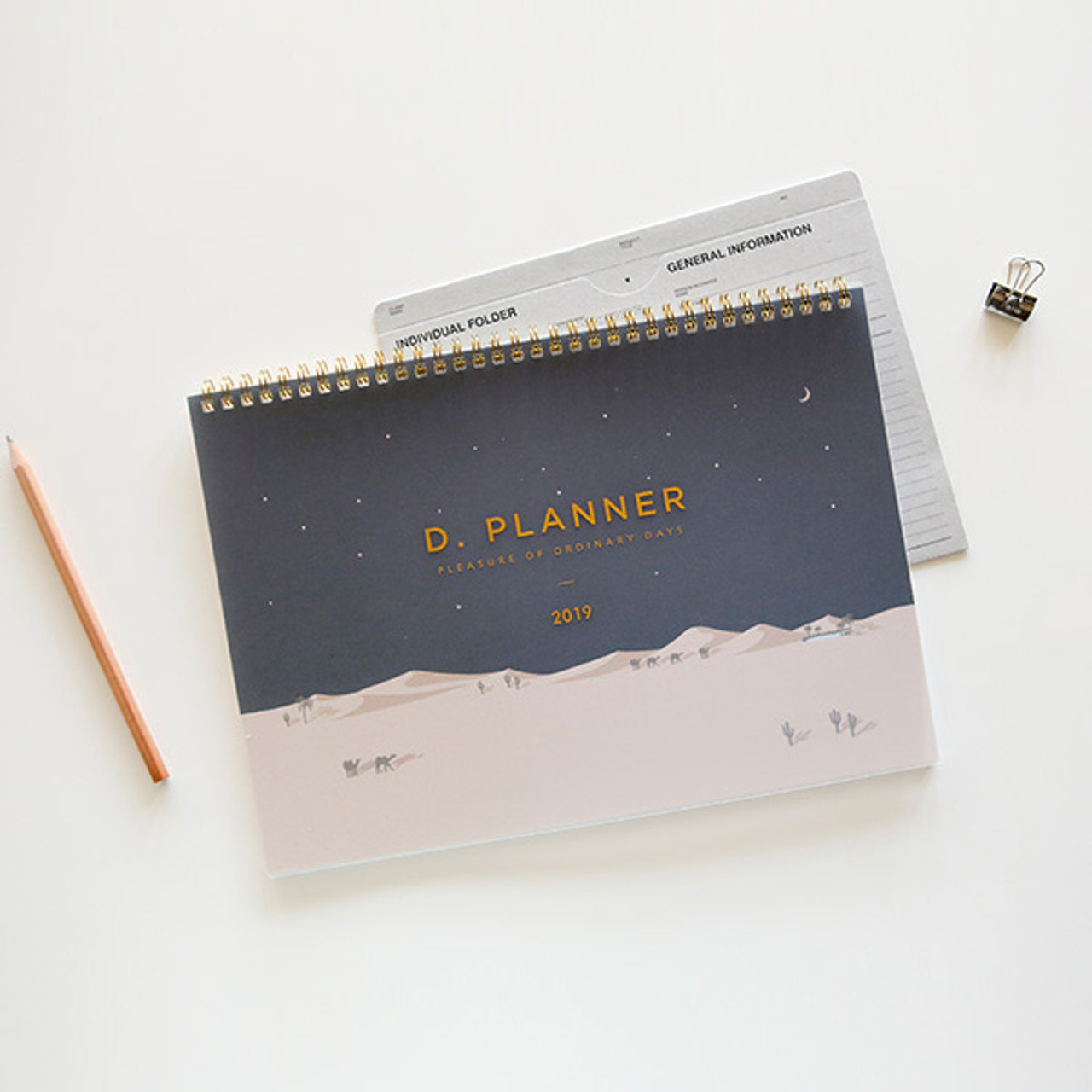 Dailylike 2019 D Dot Dated Monthly Desk Planner Scheduler