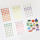 6 sticker sheets - GMZ Fruit and removable sticker pack