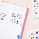 Usage example - Rihoon Lovely illustration 20 sheets sticker set