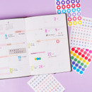 Usage example -  Rihoon Lovely decoration 20 sheets sticker set