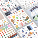 ICONIC Diary deco sticker 9 sheets in one set ver10