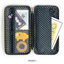 1 main compartment - Monopoly W double pockets zipper pencil case pouch