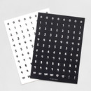 2NUL Drawing number sticker set