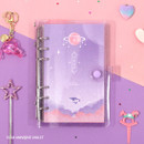 Star universe violet - Twinkle moonlight A6 6 ring dateless weekly diary planner
