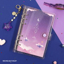 Moonlight night - Twinkle moonlight A6 6 ring dateless weekly diary planner