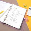 Usage example - Second Mansion Grid 6-ring A5 size planner notebook refill
