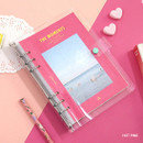 Hop pink - Second Mansion Moment A5 6ring dateless weekly diary planner
