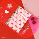 Cherry me - Second Mansion Neon retro A6 6 ring dateless weekly planner