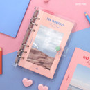 Baby pink - Second Mansion Moment A6 6-ring dateless weekly diary planner
