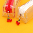 Comes with a cute cherry charm - Second Mansion Cherry me twinkle PVC zip pencil case