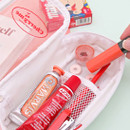 White - Second Mansion Cherry me twinkle PVC daily zip pouch