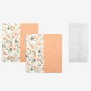 Set of 1 envelope and 2 letter papers  - Dailylike Mind pattern letter with envelope set- Orange tree