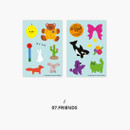 Friends - Second Mansion Retro mood deco sticker sheets set