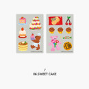 Sweet Cake - Second Mansion Retro mood deco sticker sheets set