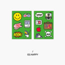 Happy - Second Mansion Retro mood deco sticker sheets set