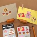 Usage example - Second Mansion Retro mood deco sticker sheets set