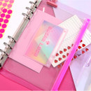 Sugar lush - Second Mansion Retro mood 6-ring A5 zip lock pouch bag