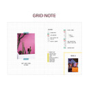 Grid note - Second Mansion Damwha 6-ring A5 size grid notebook
