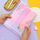 Cat - Twinkle moonlight A5 6-ring dateless weekly diary planner