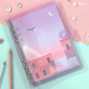 Whale - Twinkle moonlight A5 6-ring dateless weekly diary planner