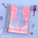 Moonlight unicorn - Twinkle moonlight A5 6-ring dateless weekly diary planner