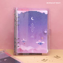Moonlight night - Twinkle moonlight A5 6-ring dateless weekly diary planner