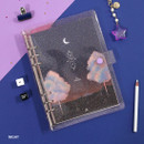 Night - Twinkle moonlight A5 6-ring dateless weekly diary planner