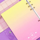 Yellow-pink - Second Mansion Gradation 6-ring A5 size planner blank notebook refill