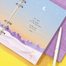 Usage example - Second Mansion Moonlight 6-ring A5 planner notebook refill