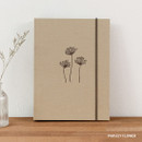 Parsley Flower - PAPERIAN Book cloth A5 size 6 ring binder with elastic band