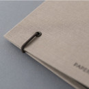 Elastic band - PAPERIAN Book cloth A5 size 6 ring binder with elastic band