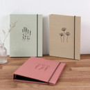 PAPERIAN Book cloth A5 size 6 ring binder with elastic band