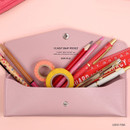 Uber Pink - Monopoly Classy snap button pocket pencil case pouch