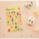Dailylike Jelly bear removable deco sticker set of 8 sheets