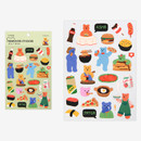 Mukbang - Dailylike Jelly bear removable deco sticker set of 8 sheets