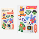 Street bear - Dailylike Jelly bear removable deco sticker set of 8 sheets