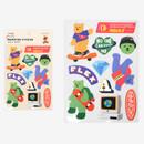 Street bear - Dailylike Jelly bear removable deco sticker set of 8 sheets