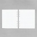 Gray - 2NUL Cherry pick 6-ring planner grid note refill