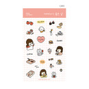 Cafe - Dash And Dot Girl's day clear deco sticker