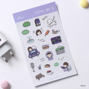 Walk - Dash And Dot Girl's day clear deco sticker