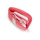 Coral pink - Monopoly Air mesh small cable half zipper case pouch