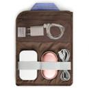 Elastic band slots, mesh zipper pocket - Monopoly Air mesh extra large iPad zipper tote pouch bag